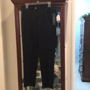 NWT comfort waist navy blue dress pants